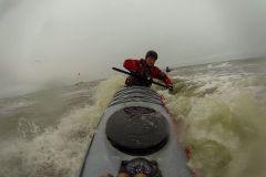 Grönlandtechnik flache Stütze in brechender Welle