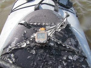 Aller Hochwasser Rallye Cockpit vereist